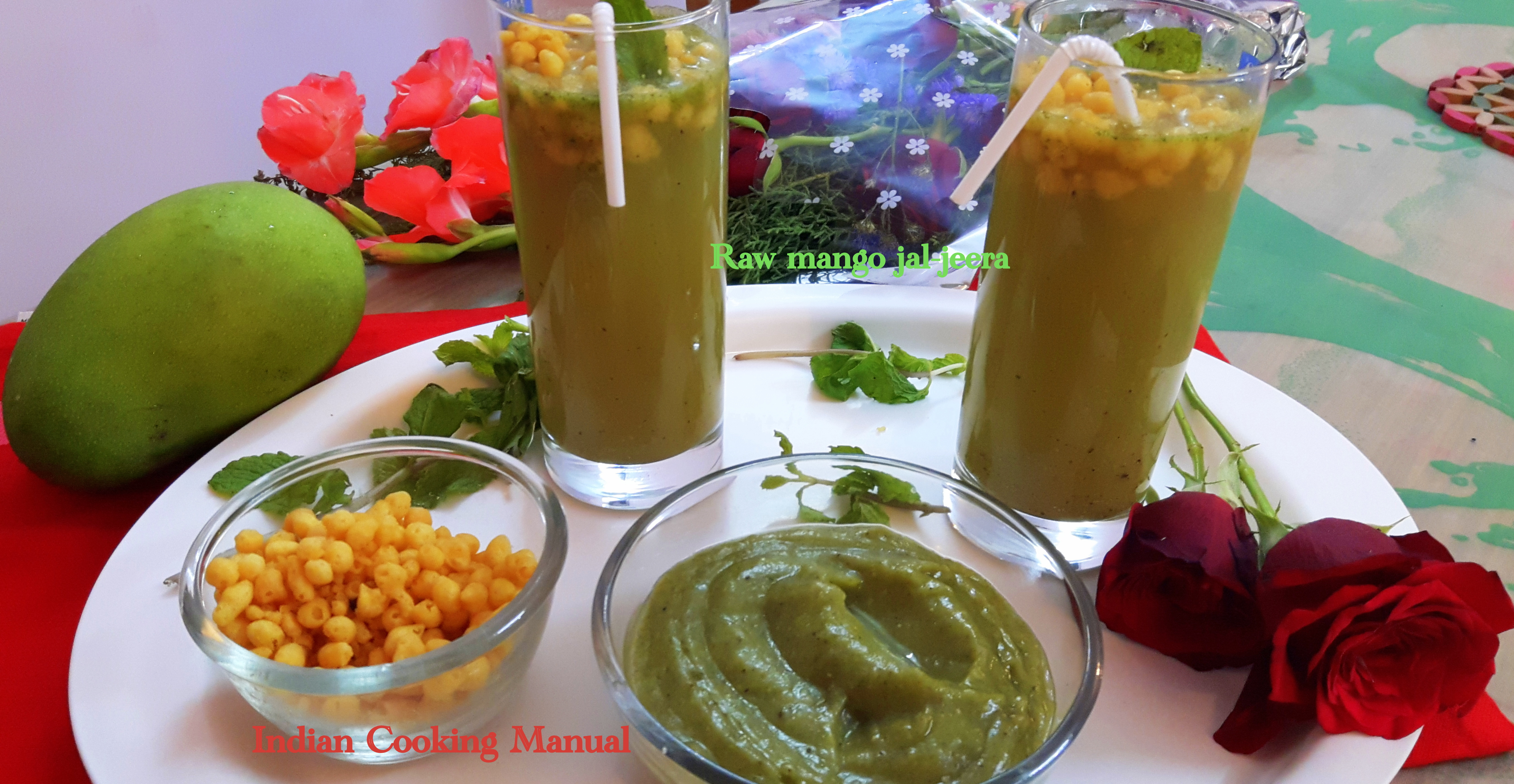 Raw mango jal-jeera (kairi ka jal-jeera)