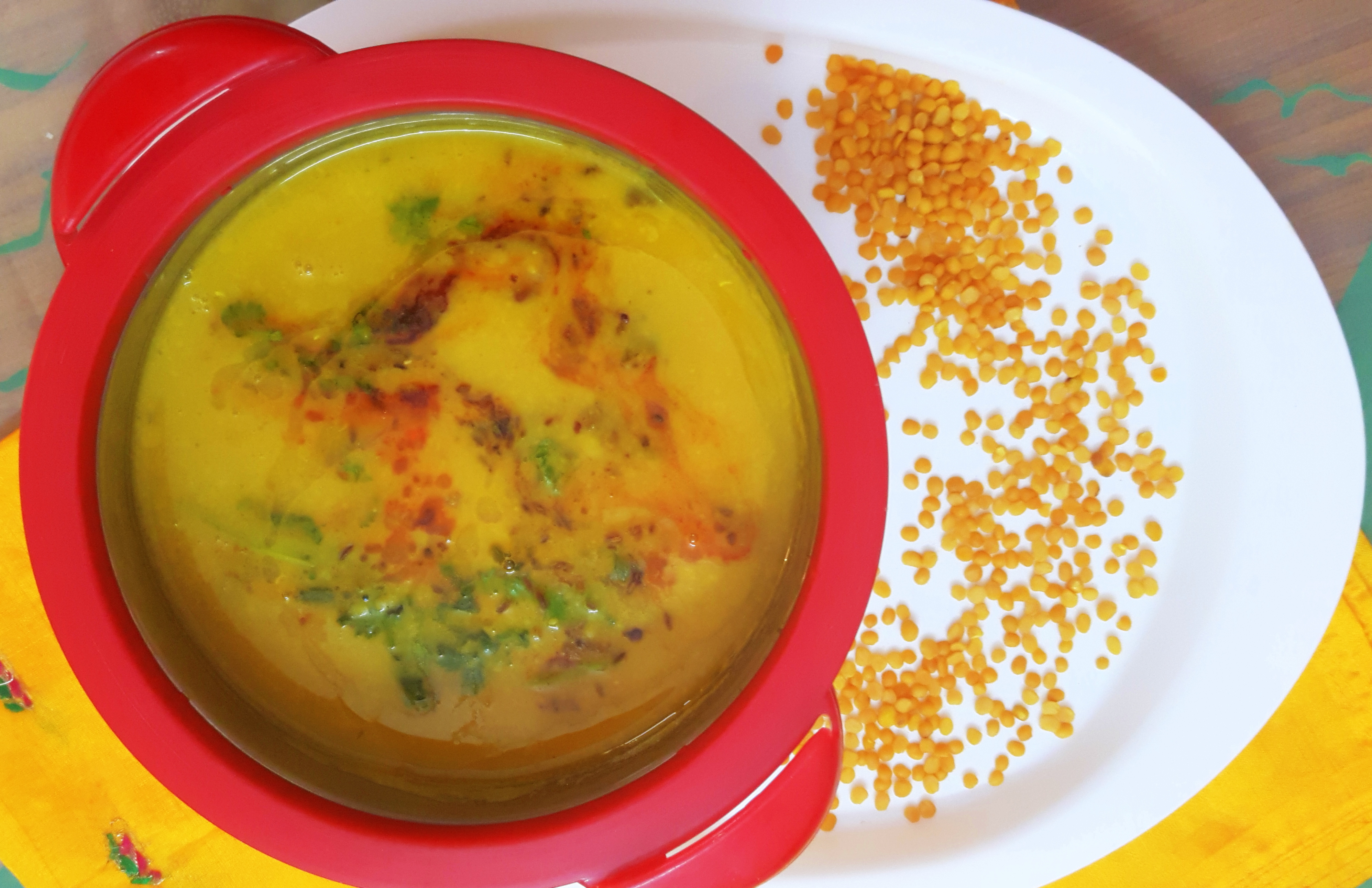 Toovar/arhar ki dal fry (pigeon pea lentil fry)