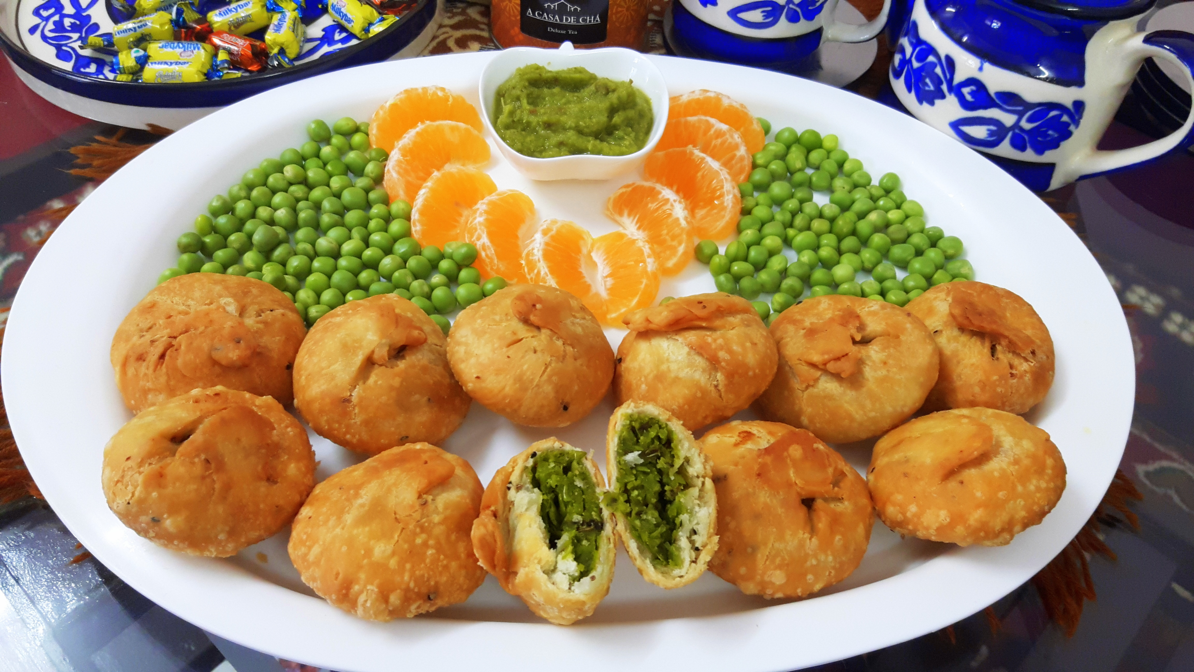 Matar ki kachori (fresh pea's kachori)