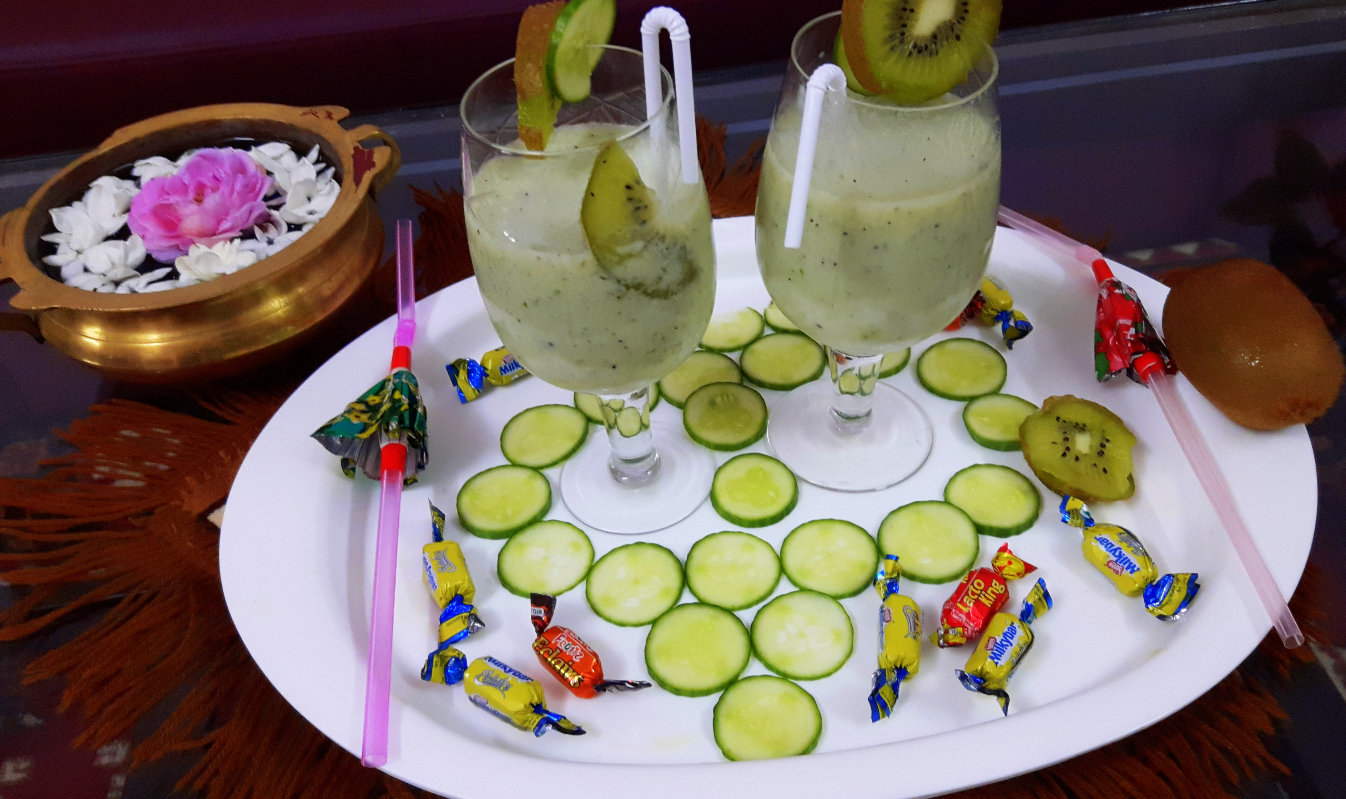 Kiwi cucumber shake