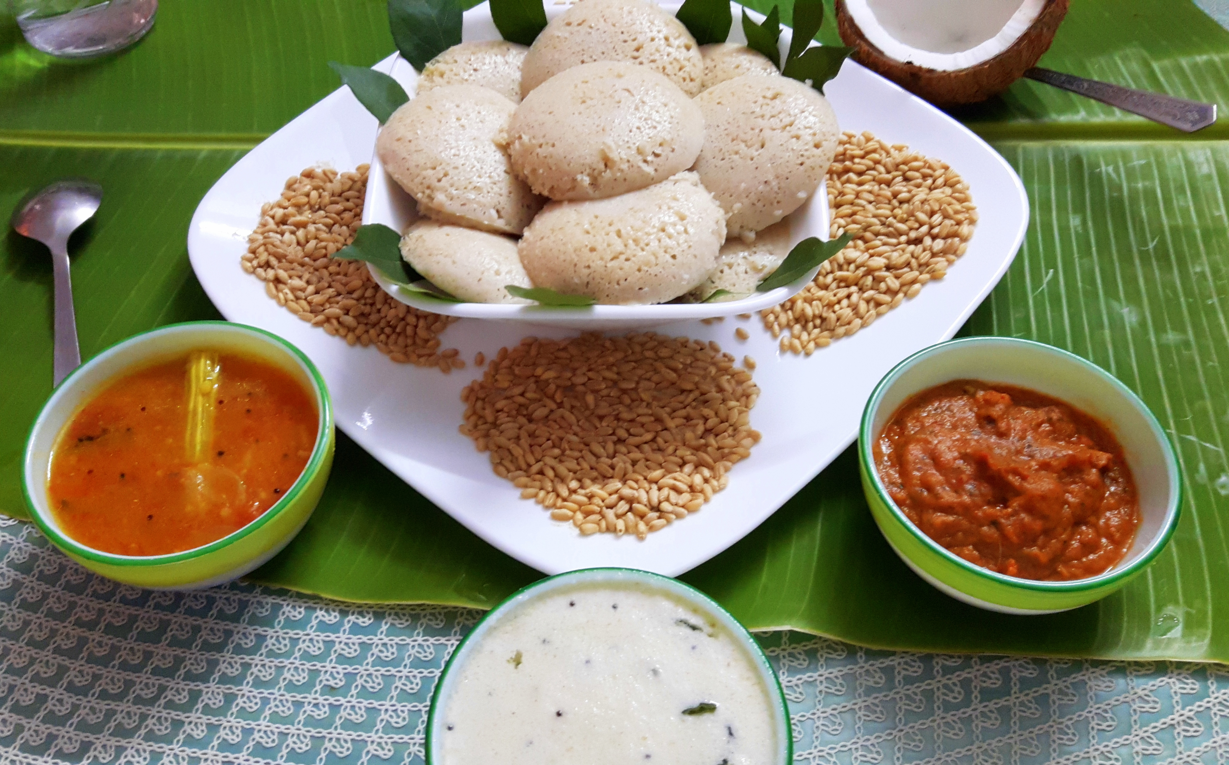 Wheat idli