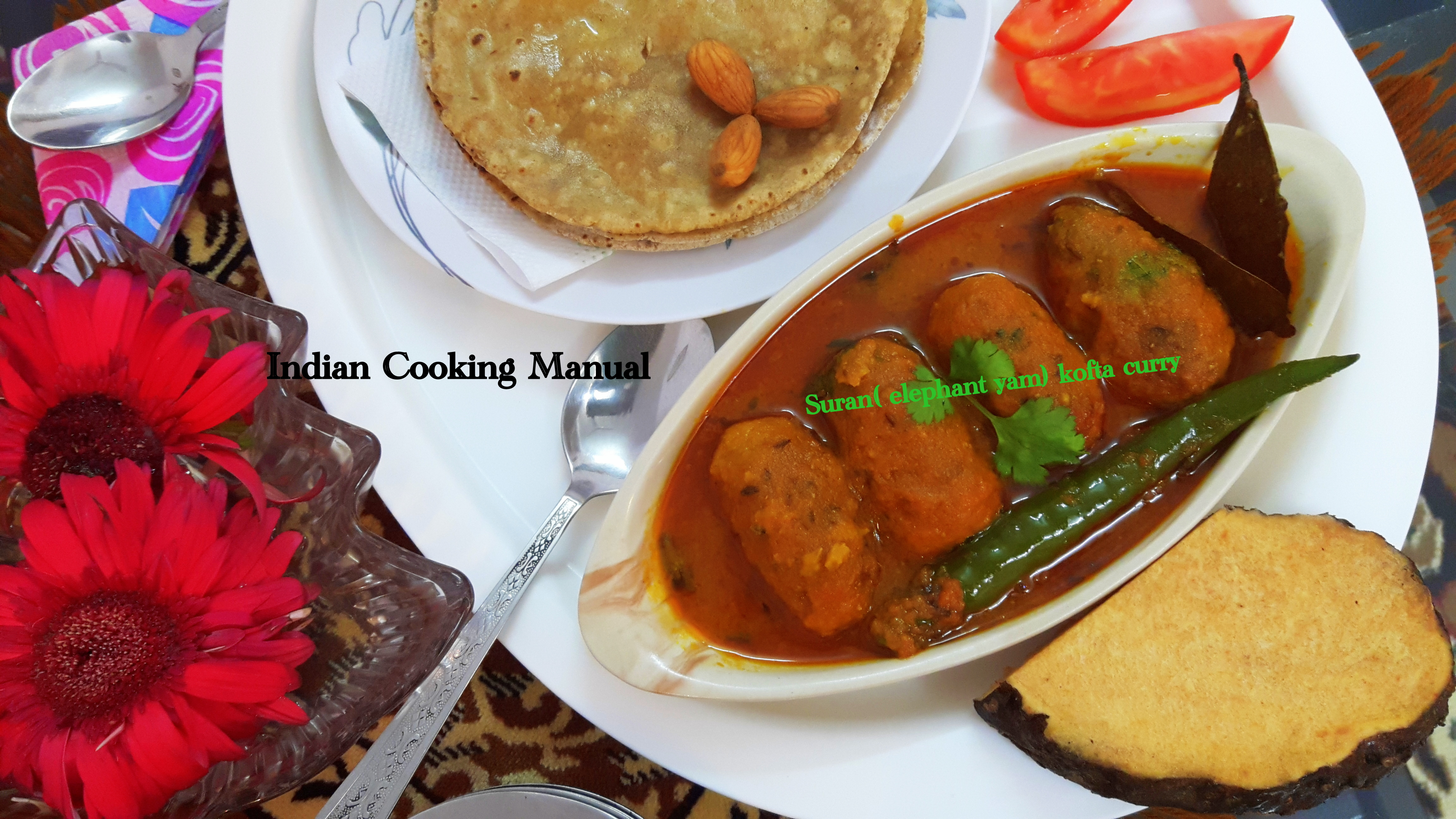Suran (elephant yam) kofta curry