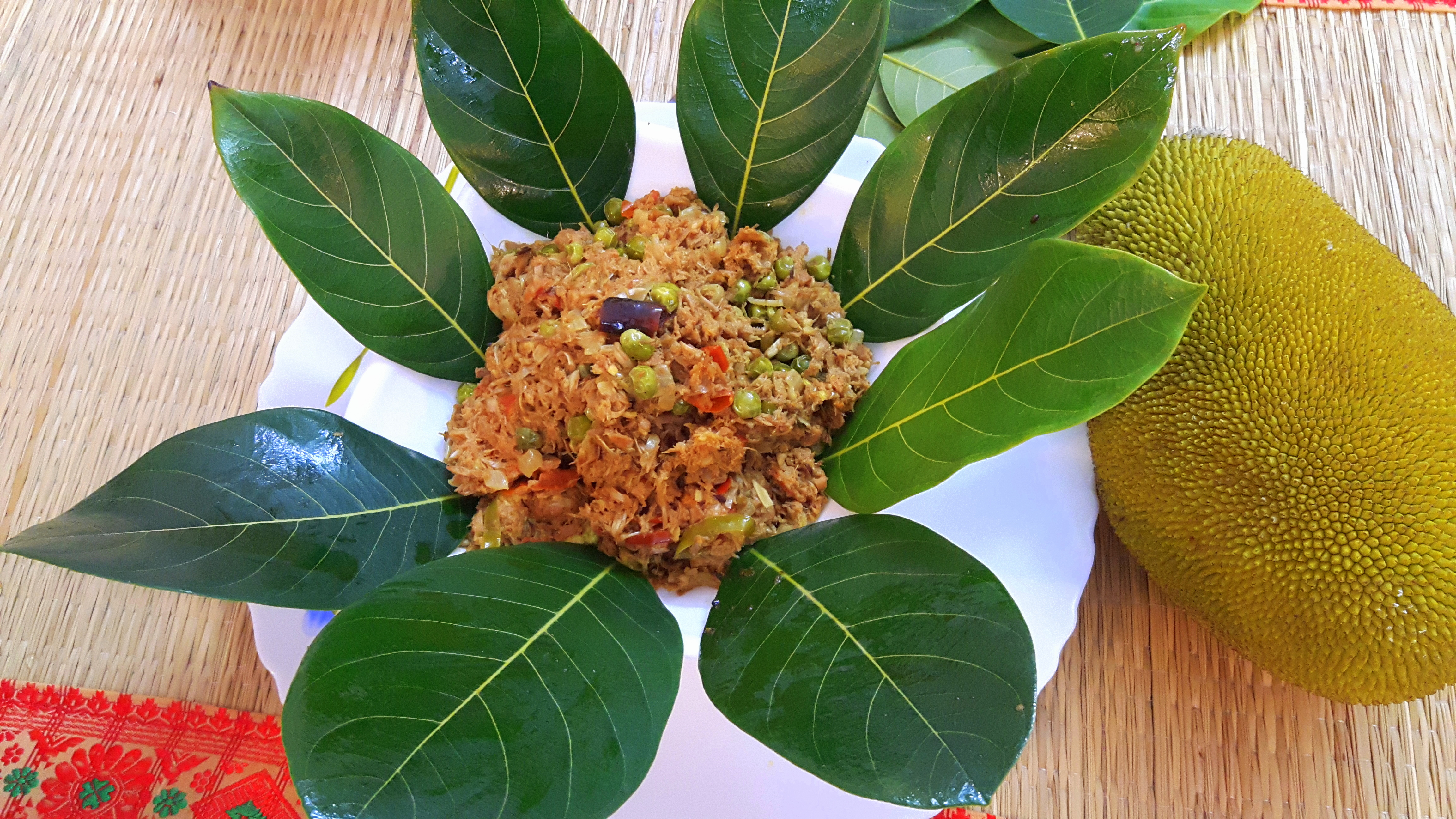 Raw jackfruit keema Matar (Green peas)