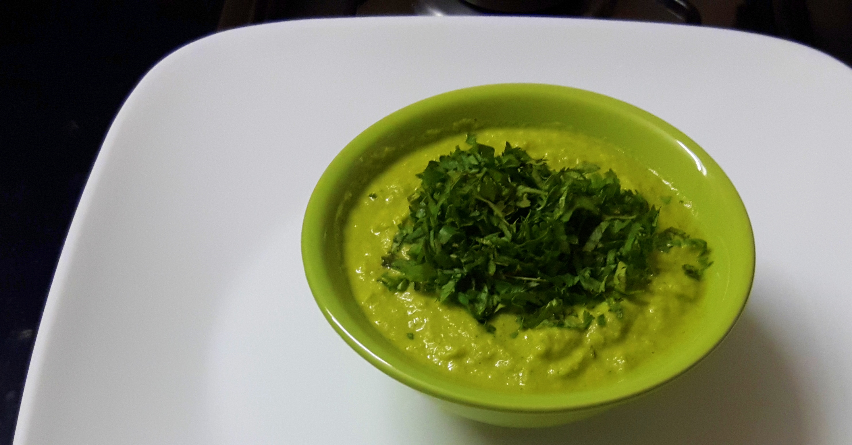 garnish with chopped coriander leaves