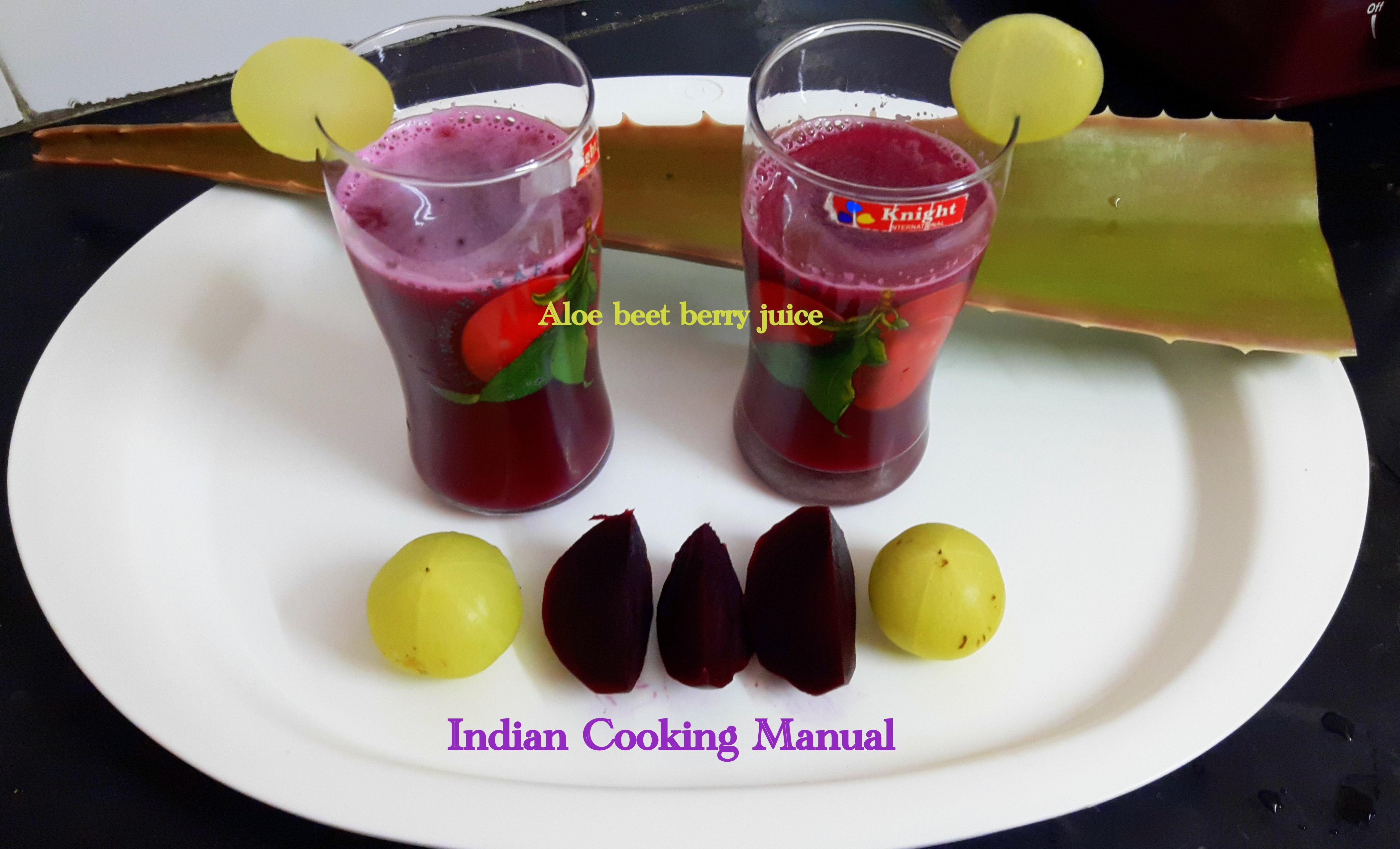 Aloe beet berry juice