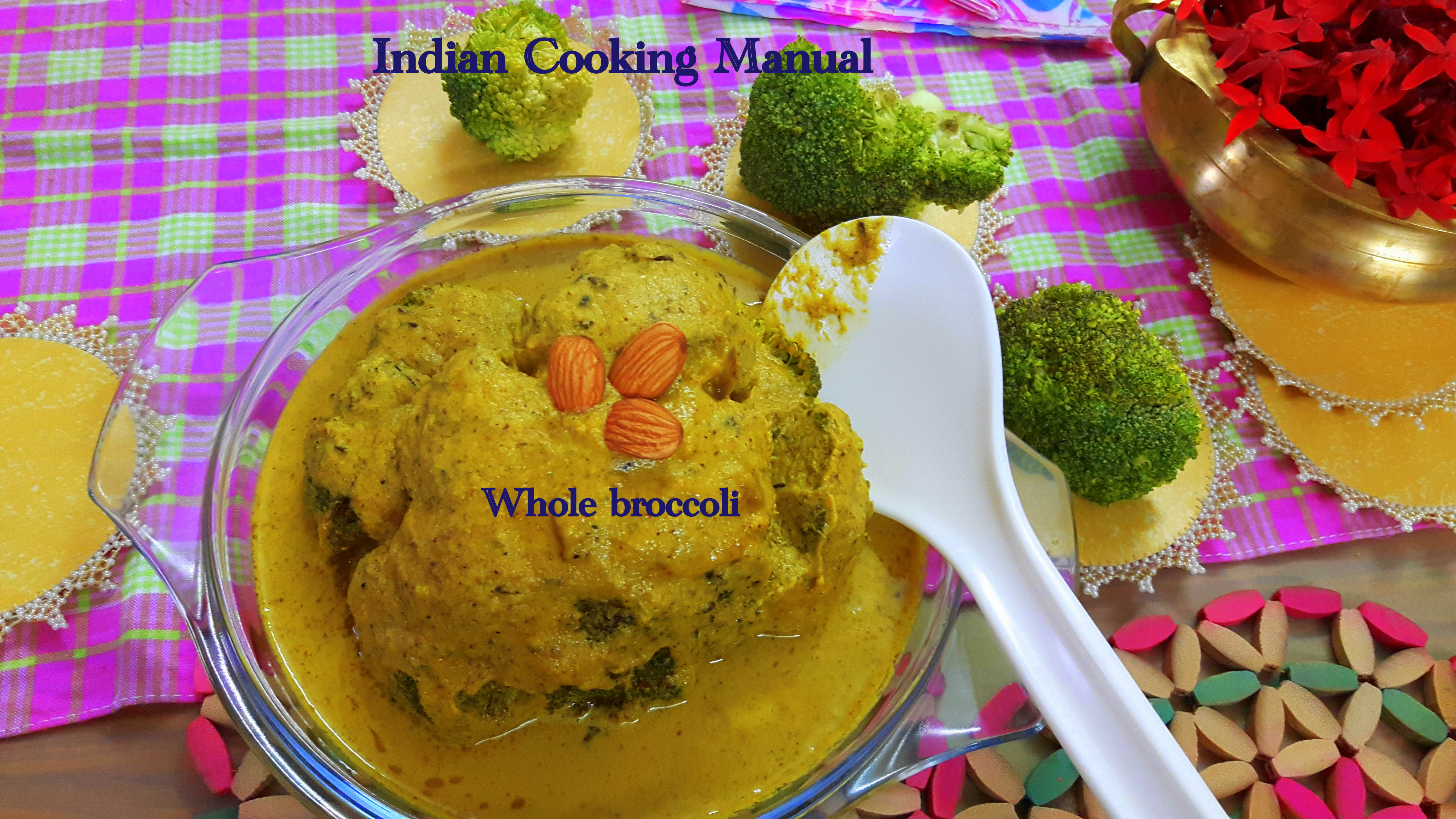 Whole broccoli (musallam)/masala
