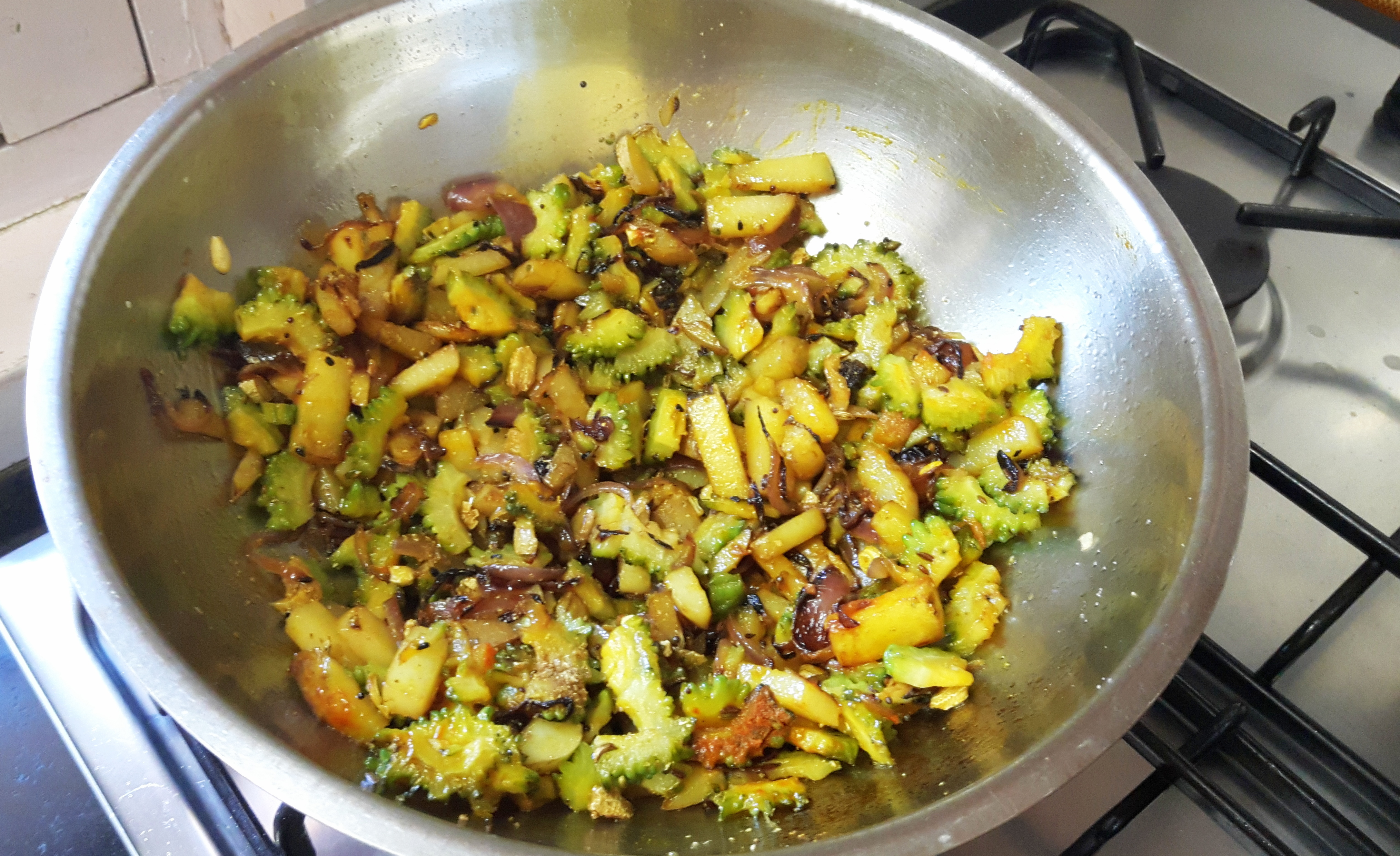 Fry till vegetables are done