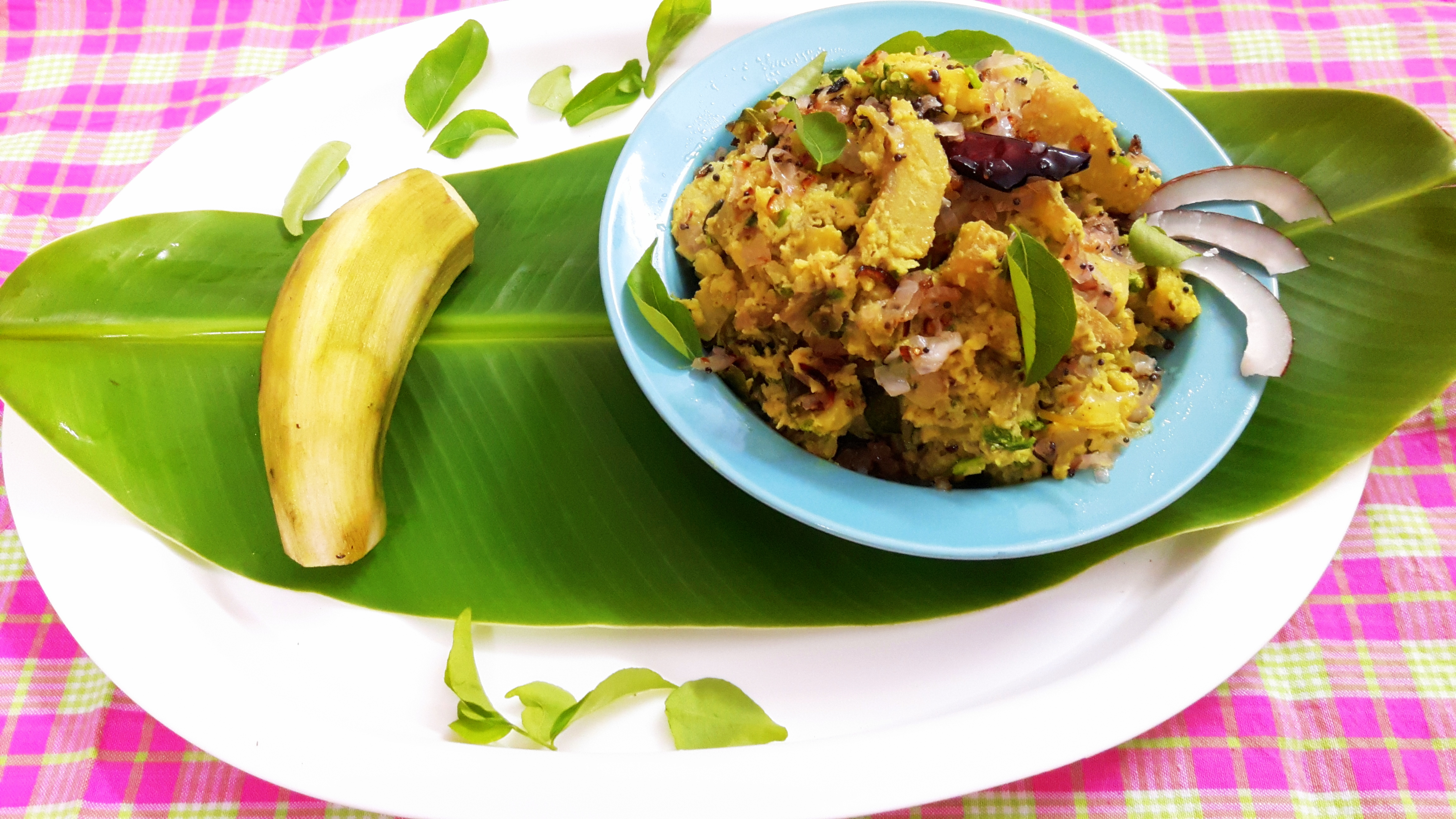 Balakaya (raw banana) thoran