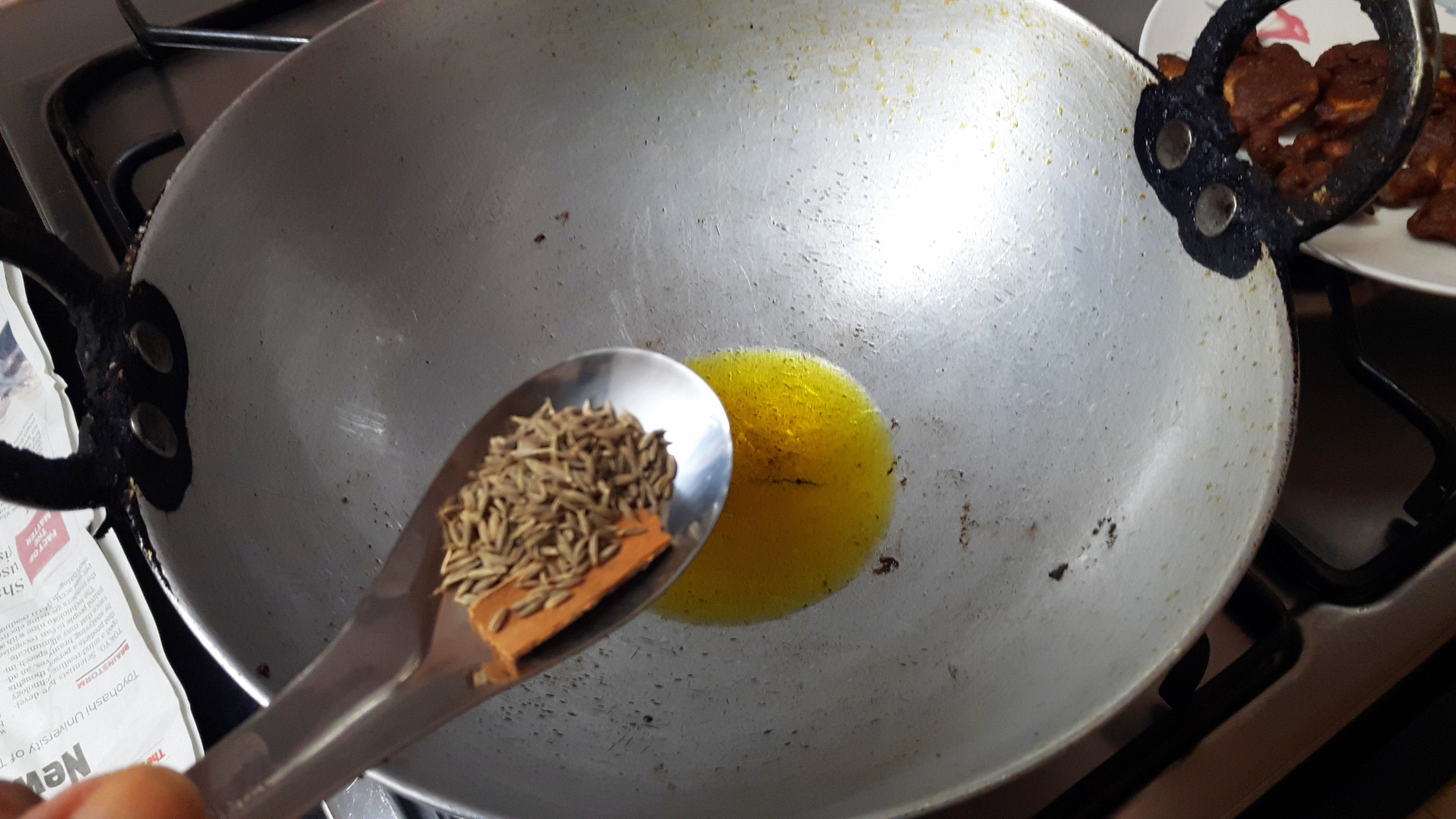 put 1 teaspoon of cumin and cinnamon