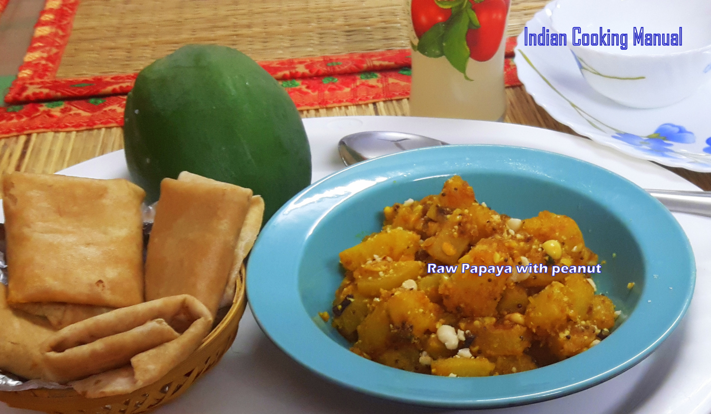 Raw papaya with peanut