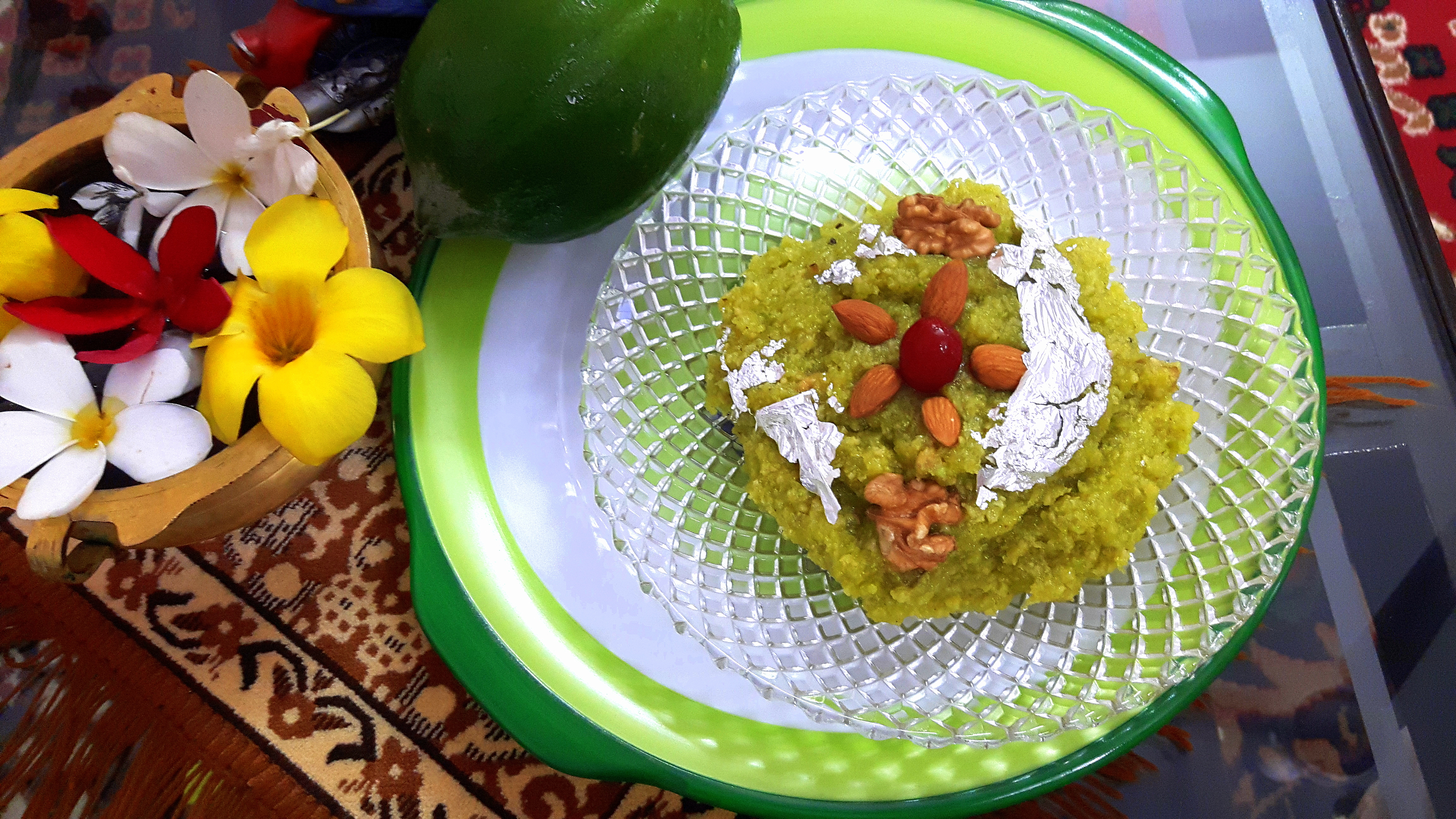 Raw papaya halwa