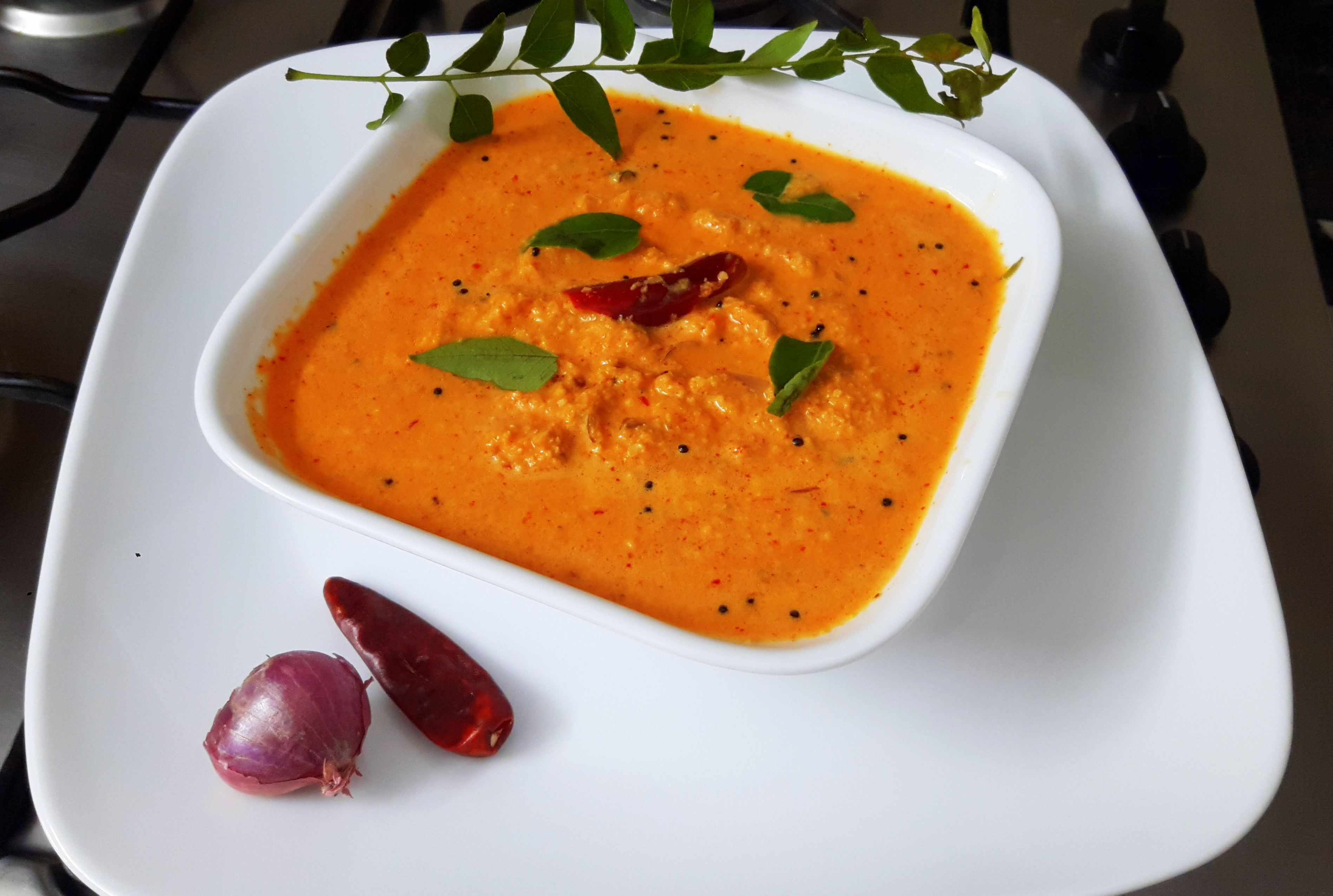 Red coconut chutney (Kerala style)