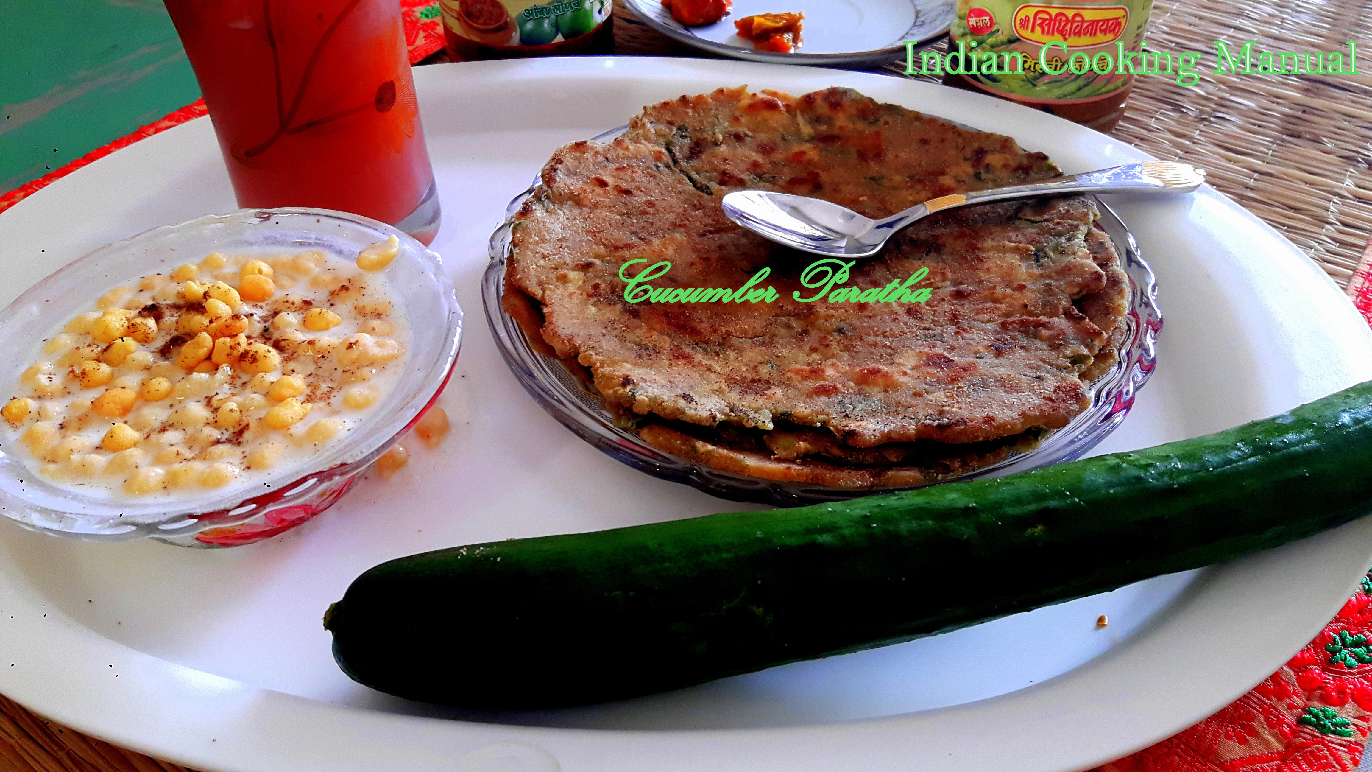 Cucumber paratha
