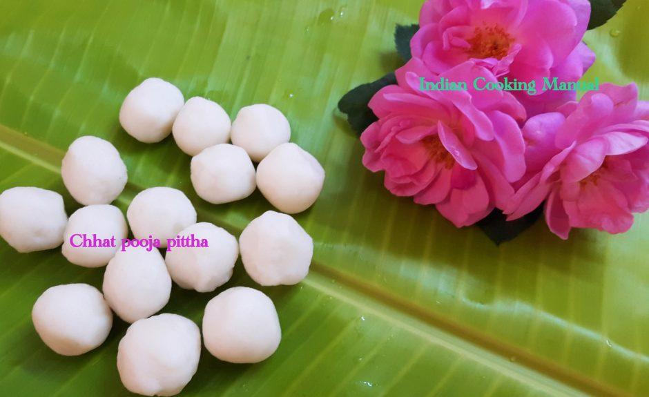 chhath pooja pittha